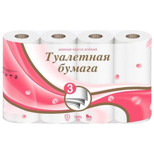 Купить Туалетная бумага Veiro Мягкая трехслойная белая 8 рул.
