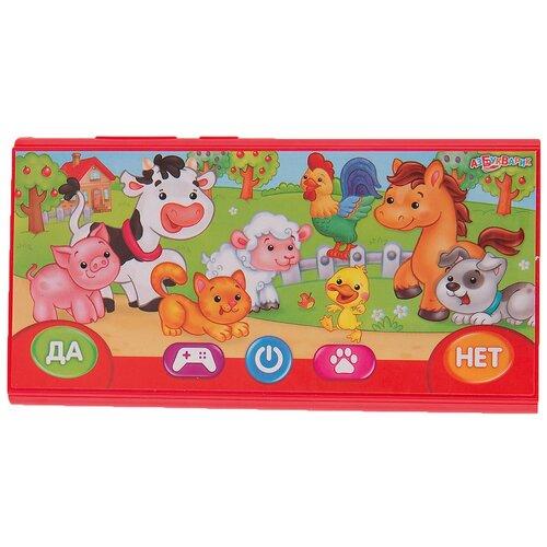 Купить Интерактивная развивающая игрушка Азбукварик Смартфончик Кто на ферме?, красный, Развивающие игрушки