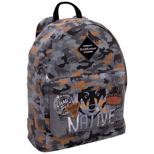 ErichKrause рюкзак EasyLine Rough Native, серый недорого