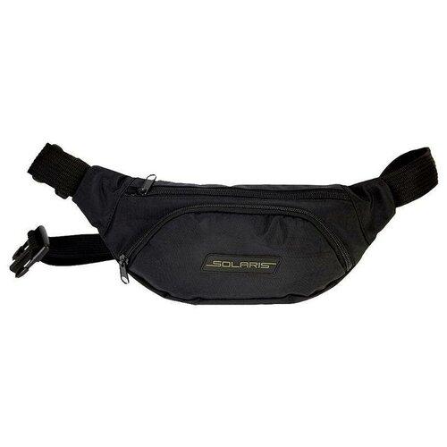 Поясная сумка SOLARIS, текстиль, черный solaris 5410 сумка поясная красная