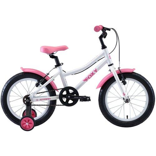 Детский велосипед STARK Foxy 16 Girl (2020) белый/розовый (требует финальной сборки) недорого