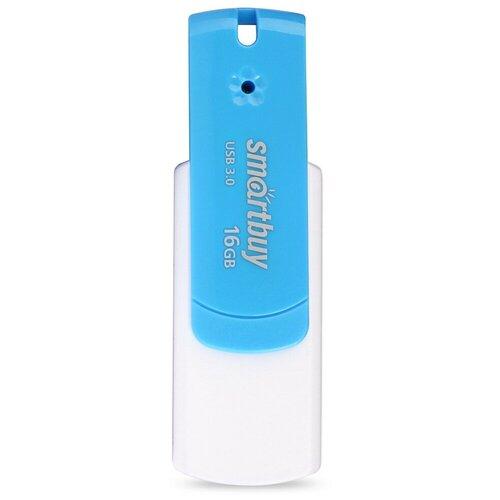 Фото - Флешка SmartBuy Diamond 16GB USB 3.0, голубой флешка smartbuy stream usb 2 0 16gb cиний