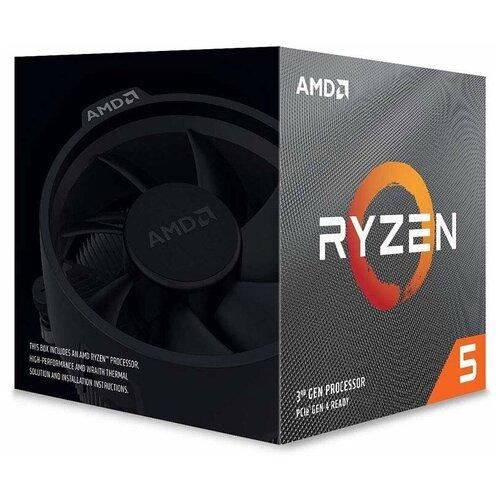 Фото - Процессор AMD Ryzen 5 3600X, BOX процессор amd ryzen 5 3600x socketam4 oem [100 000000022]