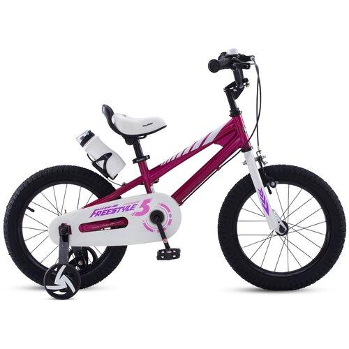 Фото - Детский велосипед Royal Baby RB18B-6 Freestyle 18 Steel фуксия (требует финальной сборки) детский велосипед tong yue 2 3 6 8 12 14 16 18