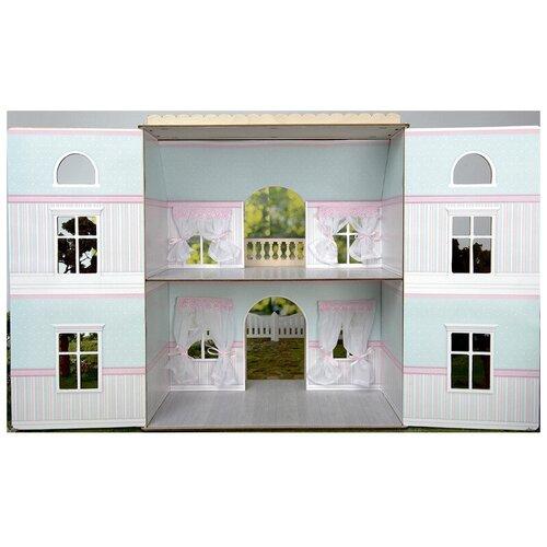 ЯиГрушка набор для интерьера Обои и ламинат для дома с черепичной крышей 59505, мятный леденец