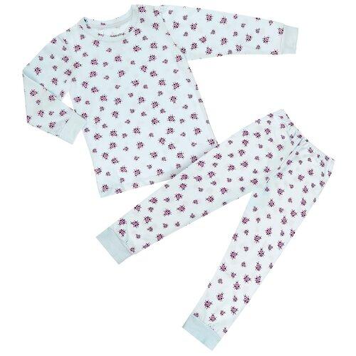 Купить Пижама для девочек (4/5 - 110/116), голубой, божья коровка, Donella, Домашняя одежда