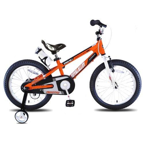 Детский велосипед Royal Baby RB18-17 Freestyle Space №1 Alloy Alu 18 оранжевый (требует финальной сборки) двухколесные велосипеды royal baby freestyle space 1 alloy 14