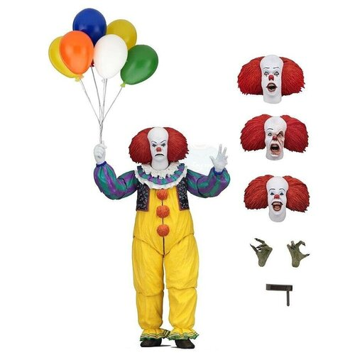 18cm deluxe edition clown action figure neca shf it pennywise figures it model collection return soul 1990 halloween gift 10y05 Фигурка NECA IT: Ultimate Pennywise (1990) 45460