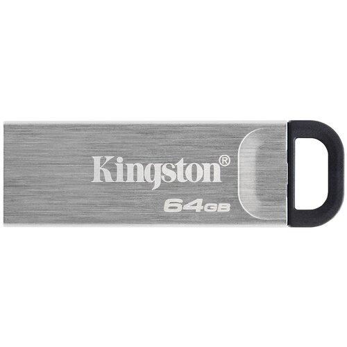 Фото - Флешка Kingston DataTraveler Kyson 64 GB, 1 шт., серебристый флешка kingston datatraveler 106 64 gb черный красный