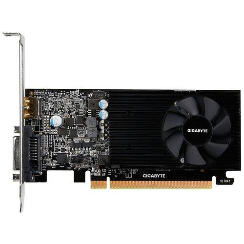 Фото - Видеокарта GIGABYTE GeForce GT 1030 Low Profile 2G (GV-N1030D5-2GL), Retail видеокарта gigabyte geforce gt 1030 1227mhz pci e 3 0 2048mb 6008mhz 64 bit dvi 2xhdmi hdcp low profile gv n1030d5 2gl