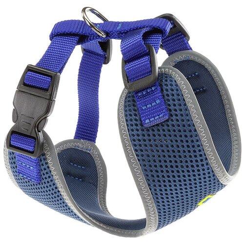 Шлейка Ferplast Nikita P S, обхват шеи 24-31 см, синий