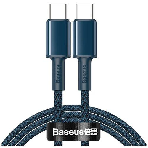 Кабель USB Type-C - USB Type-C 1м Baseus High Density Braided Fast Charging 100W - Синий (CATGD-03) кабель baseus high density braided fast charging cable usb type c usb type c 5 a 1 м цвет