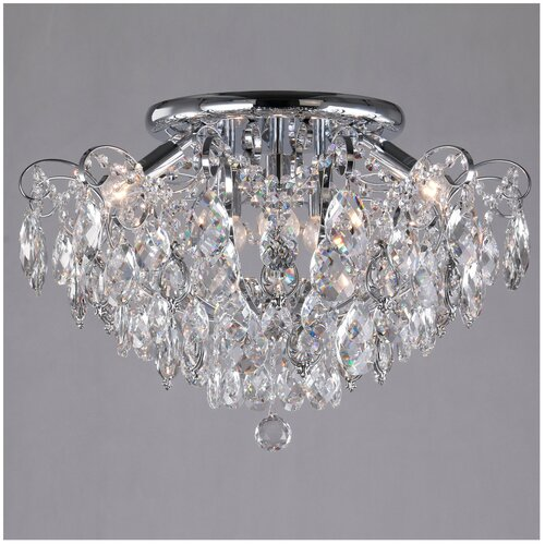 Фото - Люстра Eurosvet Crystal 10081/6 хром/прозрачный хрусталь, E14, 360 Вт люстра eurosvet crystal 10081 6 хром прозрачный хрусталь e14 360 вт