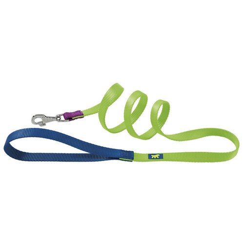 Поводок для собак Ferplast Club G Colours зеленый 1.2 м 15 мм