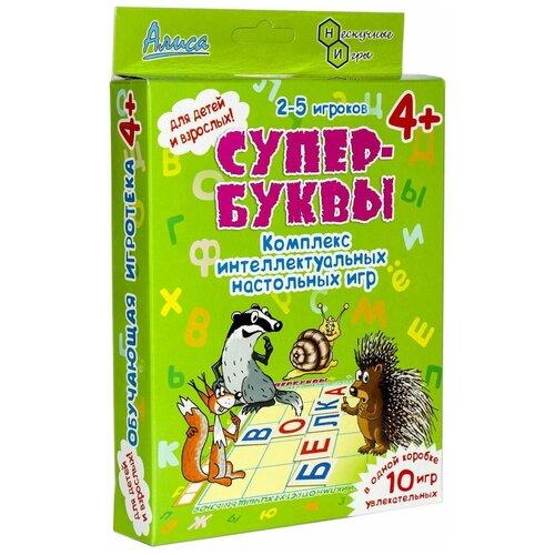 Набор настольных игр Нескучные игры Супер-Буквы набор фигурок нескучные игры