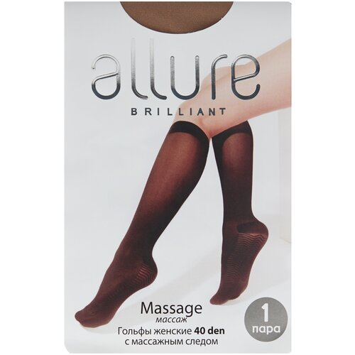 Капроновые гольфы ALLURE Massage 40 den, размер универсальный, glase