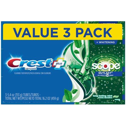 Crest Complete + Scope Outlast – Набор из 3 зубных паст