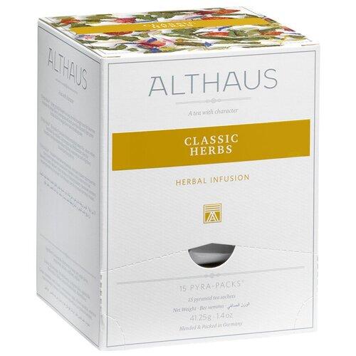 Фото - Чай травяной Althaus Classic herbs в пирамидках, 15 шт. чай травяной леторос душевный разговор в пирамидках 20 шт