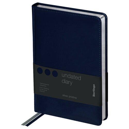 Ежедневник Berlingo Silver Pristine недатированный, искусственная кожа, А5, 160 листов, синий