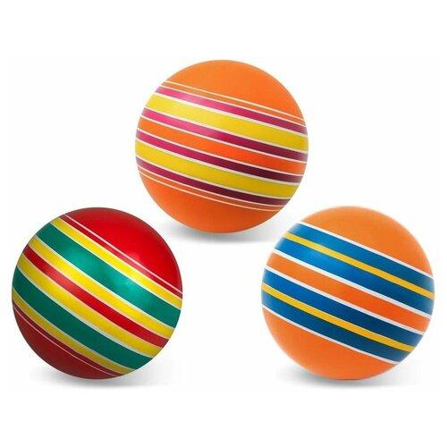 Мяч детский 10 см, серия полосатики, Мячи-Чебоксары, Р3-100/По