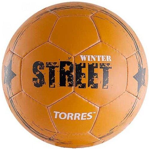 Футбольный мяч TORRES Winter Street оранжевый/черный 5