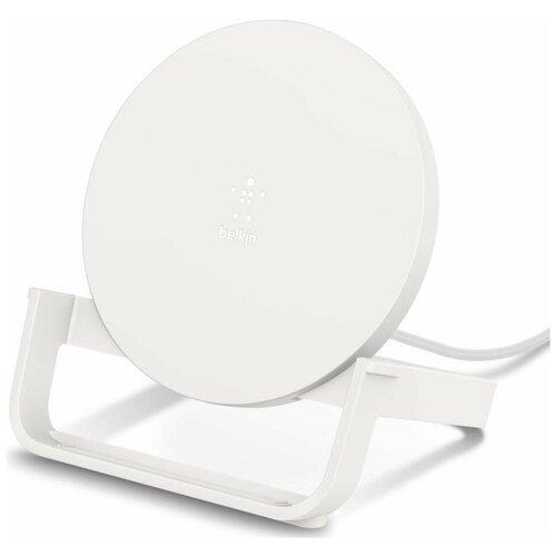 Фото - Беспроводное зарядное устройство Belkin (WIB001vfWH) с адаптером (White) зарядное устройство belkin universal microusb white