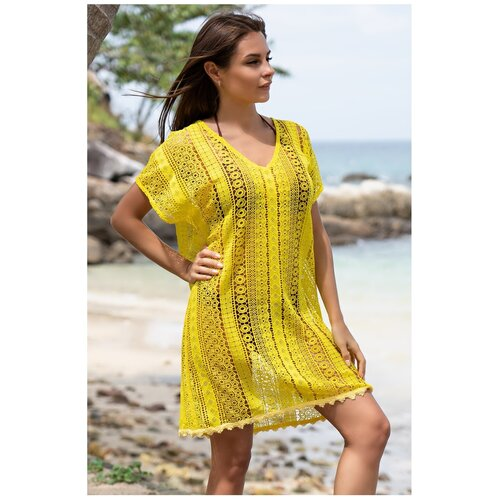 Пляжная туника MIA-AMORE Jamaica 6641, размер S/M, желтый