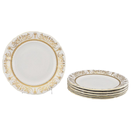 Набор тарелок десертных Соната Золотая элегантность, 17 см, 6 шт., Leander набор салатников соната золотая элегантность 16 см 6 шт 07161413 1373 leander