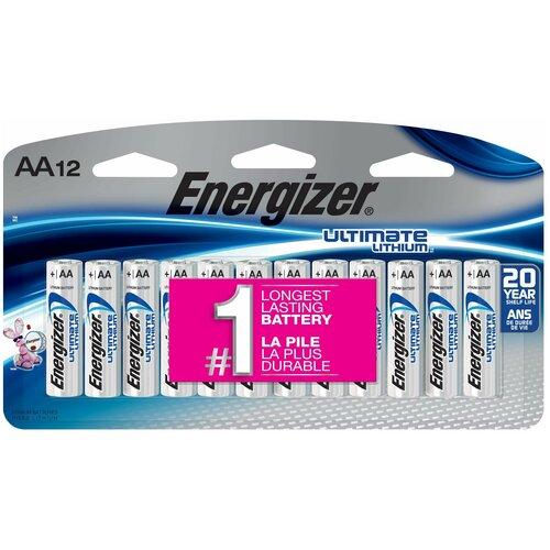 Фото - Батарейки литиевые AA LR6 ENERGIZER LITHIUM 12 шт батарейка energizer ultimate lithium aa 4 шт