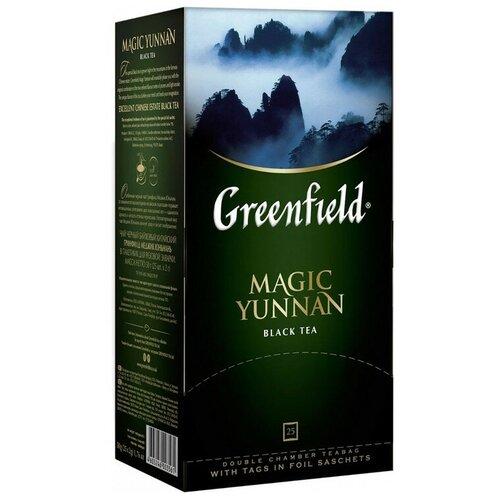 Чай черный Гринфилд меджик юньнань Greenfield Magic Yunnan, 10 шт по 25 пак