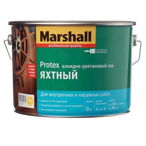 Фото - Лак яхтный Marshall Protex Yat Vernik 40 алкидно-уретановый бесцветный 9 л лак marshall protex parke cila 40 алкидно уретановый бесцветный 2 5 л