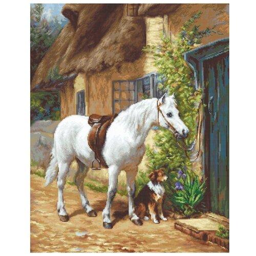 Купить Набор для вышивания «У домика», 42, 5x34 см, Luca-S, Наборы для вышивания