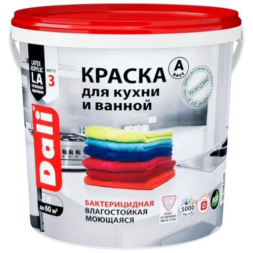 Фото - Краска акриловая DALI для кухни и ванной влагостойкая моющаяся матовая белый 5 л краска акриловая dali для кухни и ванной влагостойкая моющаяся матовая белый 5 л