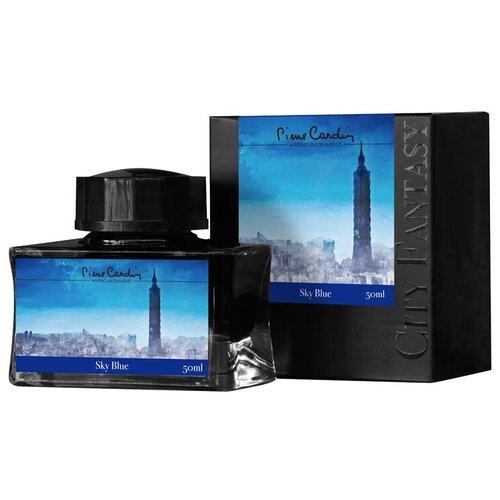 Флакон чернил Pierre Cardin 50мл, серия CITY FANTASY цвет Sky Blue (Синий Небесный)