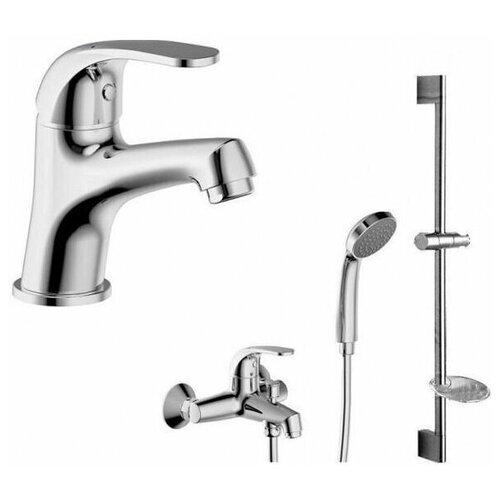 Фото - Смеситель для ванны Bravat F6135188CP-B-RUS FIT с коротким изливом + шланг/душ (181018) смеситель для ванны bravat fit f6135188cp b rus хром