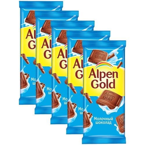 alpen gold шоколад молочный с соленым арахисом и крекером 5 шт по 85 г Alpen Gold Шоколад молочный, 5 шт по 85 г
