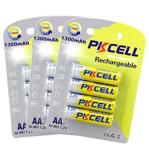 Фото - Аккумуляторные батарейки Pkcell AA Ni-MH Пальчиковые 1300mAh батарейки pkcell aa пальчиковые 12 шт уп