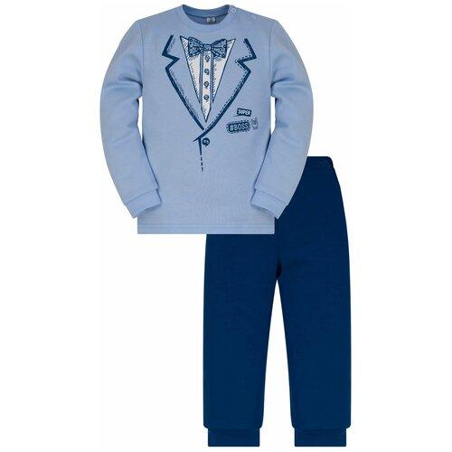 Фото - Комплект одежды Утенок размер 98, голубой/индиго комплект одежды утенок размер 98 белый черный