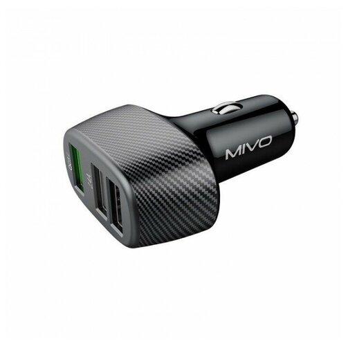 Автомобильное зарядное устройство Mivo MU333Q 3 USB QC 3.0 черный