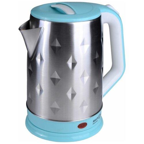 Чайник Maxtronic MAX-1009 серебристый/голубой