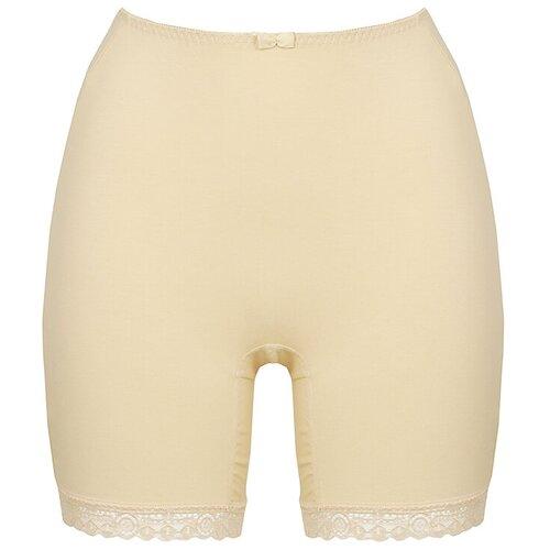 Alla Buone Трусы панталоны высокой посадки, размер 2XL(52), бежевый