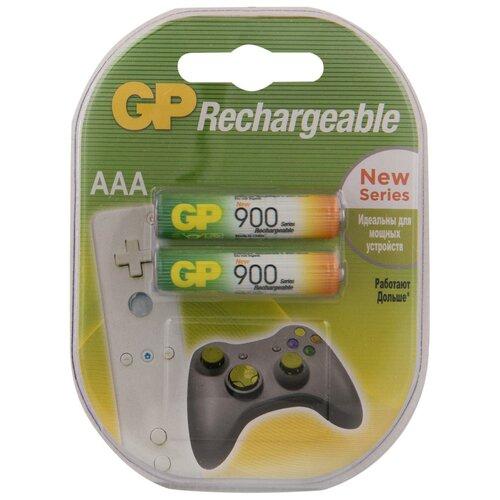 Фото - Аккумулятор Ni-Mh 900 мА·ч GP Rechargeable 900 Series AAA, 2 шт. aaa аккумулятор gp 65aaahc 2 шт 650мaч