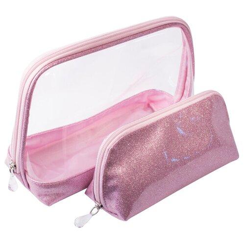 Набор косметичек DEWAL Северное сияние, розовый