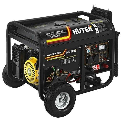 Бензиновый генератор Huter DY6500LXW (5000 Вт) бензиновый генератор huter dy6500lx 5000 вт
