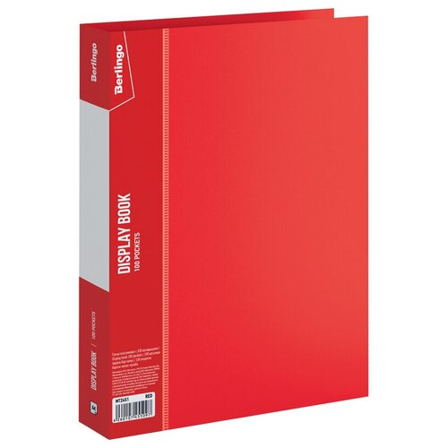 Фото - Berlingo Папка со 100 вкладышами Standard A4, пластик красный berlingo папка со 100 вкладышами standard a4 пластик синий