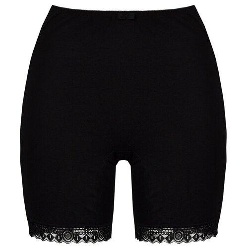 Alla Buone Трусы панталоны высокой посадки, размер 2XL(52), черный