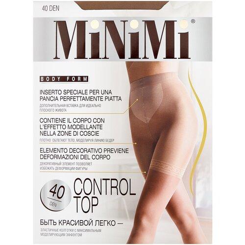 Фото - Колготки MiNiMi Control Top, 40 den, размер 3-M, daino (бежевый) колготки minimi slim control 40 den размер 3 m daino бежевый