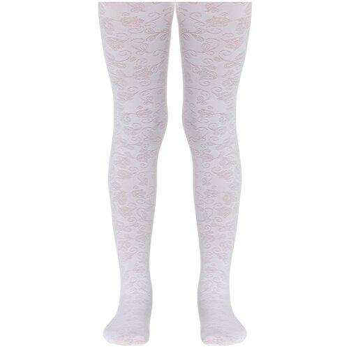 Фото - Колготки Conte Elegant ROSANNA, размер 116-122, bianco колготки conte elegant lucia размер 116 122 bianco