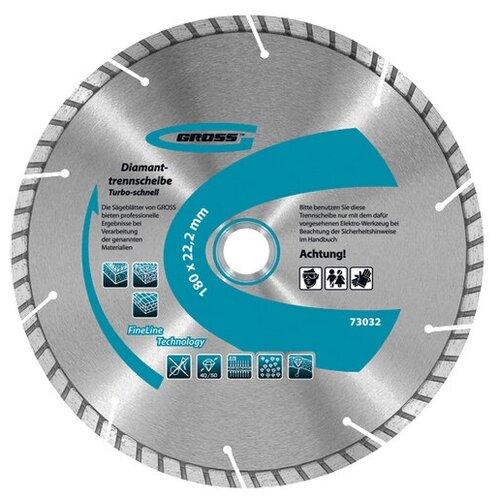 Фото - Диск алмазный ф115х22,2мм, турбо с лазерной перфорацией Gross 73028 алмазный диск gross 115х22 2мм 73028