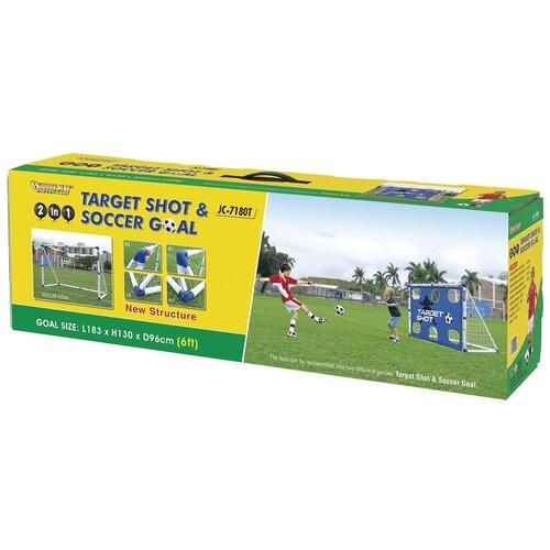 Фото - Ворота DFC GOAL7180T, размер 183х130 см белый ворота dfc goal180st размер 180х90 см белый
